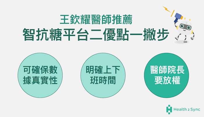 王欽耀醫師 智抗糖平台推薦