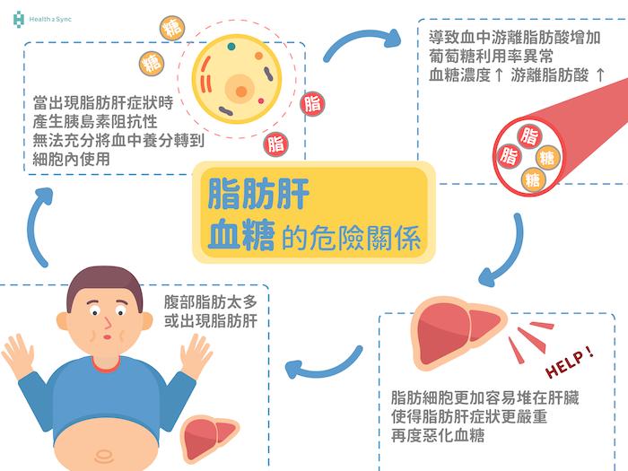 脂肪肝與血糖的危險關係。